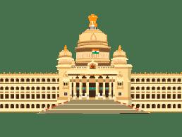 Vidhana Soudha, a historical landmark representing Bangalore, Karnataka.