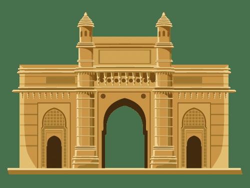 Gateway of India, a historical landmark representing Mumbai, Maharashtra.