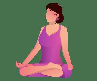 Yoga Pose - Padmasana. It is the most common yoga pose.