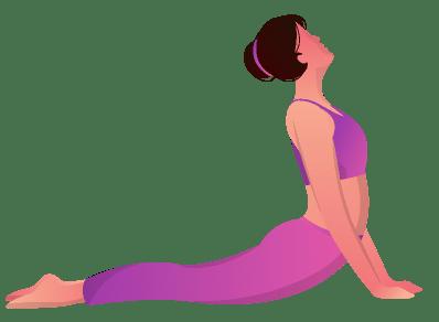 Yoga pose - Bhujangasana.