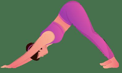 Yoga pose - Adho mukha svanasana.