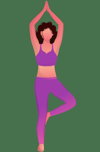 Yoga pose - Vrikshasana.